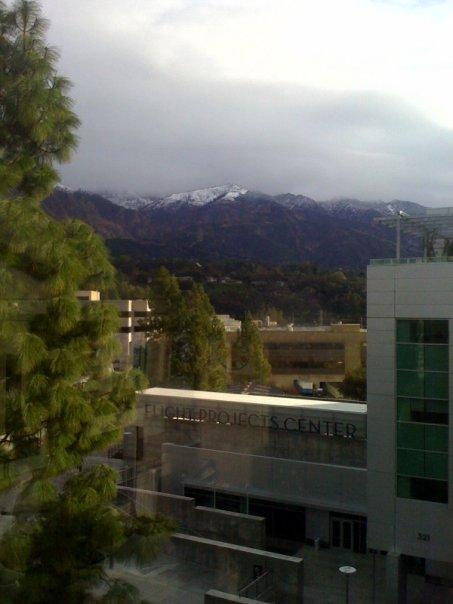 Snow Above JPL